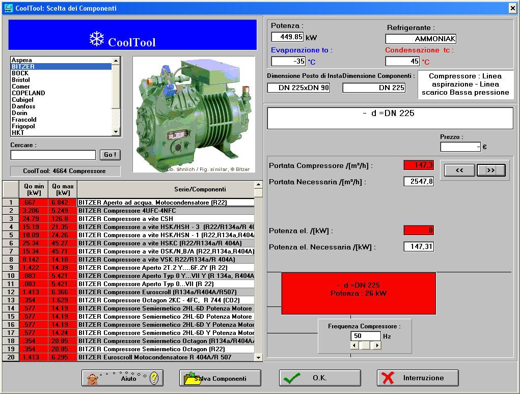 software refrigerazione industriale banca dati