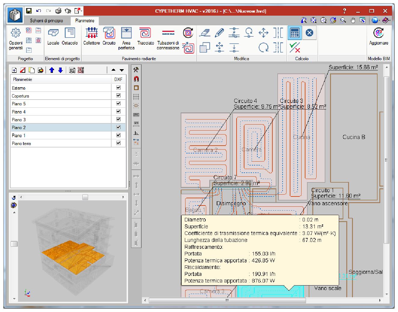 Canali pannelli radianti progettazione impianti hvac for Progetto software