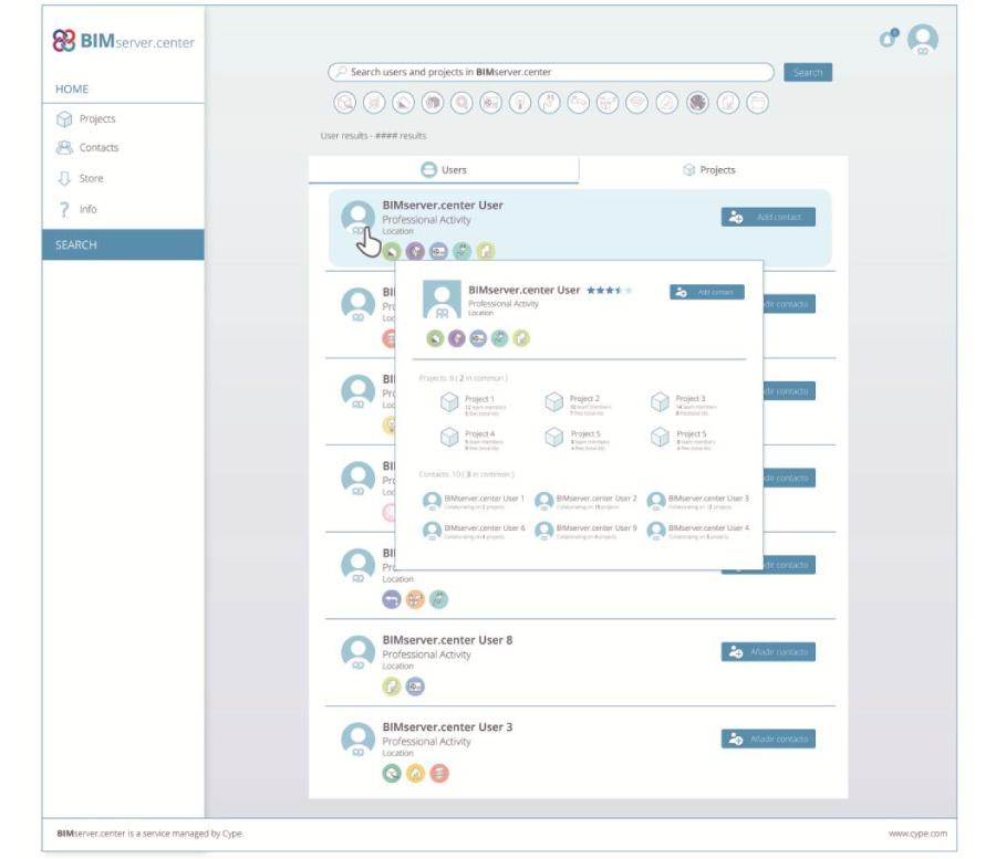opzione ricerca collaborazione progetto bim athsoftware
